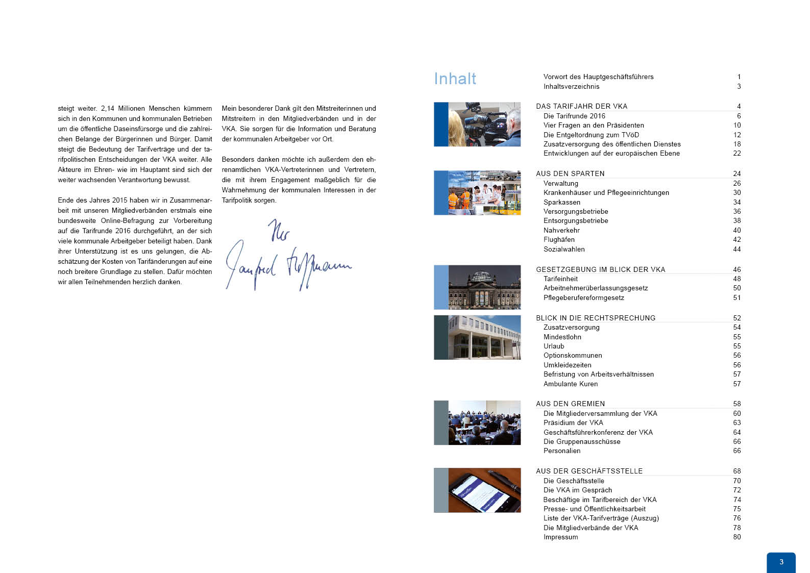 Jahresbericht Konzept Struktur